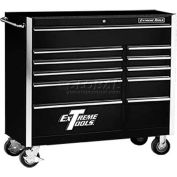 "Extreme Tools 41"" 11 Drawer Standard Roller Cabinet in Black"