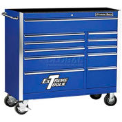 "Extreme Tools 41"" 11 Drawer Standard Roller Cabinet in Blue"