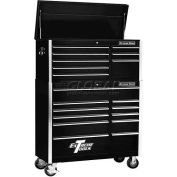 "Extreme Tools 41"" 8 Drawer Top Chest & 11 Drawer Roller Cabinet Combo in Black"