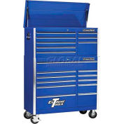 "Extreme Tools 41"" 8 Drawer Top Chest & 11 Drawer Roller Cabinet Combo in Blue"