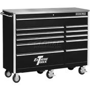 "Extreme Tools 56"" 11 Drawer Standard Roller Cabinet in Black"