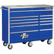 "Extreme Tools 56"" 11 Drawer Standard Roller Cabinet in Blue"