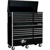 "Extreme Tools 56"" 10 Drawer Top Chest & 11 Drawer Roller Cabinet Combo in Black"