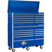 "Extreme Tools 56"" 10 Drawer Top Chest & 11 Drawer Roller Cabinet Combo in Blue"
