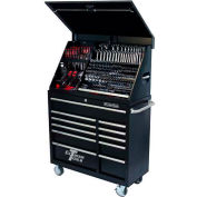 "Extreme Tools 41"" Extreme Portable Workstation® & Roller Cabinet Combo in Black"