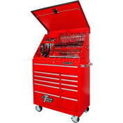 "Extreme Tools 41"" Extreme Portable Workstation® & Roller Cabinet Combo in Red"