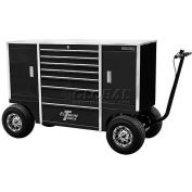 """Extreme Tools 70"""" 9 Drawer Pit Box in Black"""