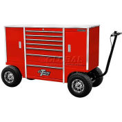 """Extreme Tools 70"""" 9 Drawer Pit Box in Red"""