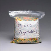 1 Gallon Reclosable Bag w/ White Block 11 x 10-9/16 2.7 Mil Pkg of 250