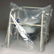 """Clear Flat Wheelchair Cover - No Gusset, On Roll 50""""W x 45""""L, Pkg Qty 250"""