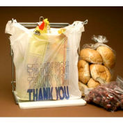 """Thank You T-Shirt Bag With Suffocation Warning 20"""" x 10"""" 0.48 Mil White 2,000 Pack"""