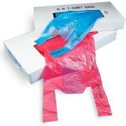 """T-Shirt Bag in Dispenser Carton 21"""" x 10"""" 0.6 Mil Magenta 1,000 Pack"""