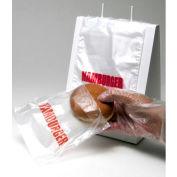 Saddle Pack Printed Hamburger Bag 7 x 6.5 0.5 Mil, Pkg Qty 2,000