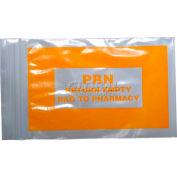 """Orange PRN Bags 3""""W x 5""""L, Pkg Qty 1,000"""