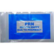 """Blue PRN Bag - Seal Top Reclosable, 2 mil, 4"""" x 6"""", Pkg Qty 1000"""