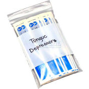 """Clear Reclosable Pharmacy Bags - 4 Mil Write On 8""""W x 10""""L, Pkg Qty 1,000"""