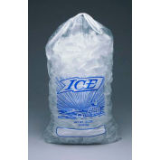 Drawstring Metalocene Ice Bags Printed  19 x 12 1.35 Mil, Pkg Qty 500