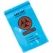 "Reclosable 3-Wall Specimen Transfer Bag (Biohazard), 6"" x 9"", Blue Tint, Pkg Qty 1000"