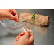 Tape Resealable Lip And Tape Sandwich Bags 7 x 14 1.25 Mil, Pkg Qty 1,000