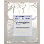 "Respiratory Setup Bag - Drawstring, 2 mil, 12"" x 16"", Pkg Qty 500"
