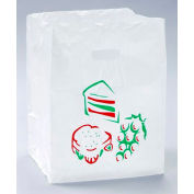 Printed Take Out Bag With Square-Cut Top 16 x 12 1.75 Mil, Pkg Qty 500