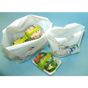 Printed Take-Out Bag With Bell-Top Carry Handle 13 x 12 1.2 Mil, Pkg Qty 1,000