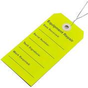 """Repair Equipment Tag, Lemon, 2-5/16"""" x 4-3/4"""", Pkg Qty 500"""