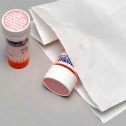 """White Pharmacy Bags - 12""""W x 7""""D x 17""""L, Pkg Qty 500"""