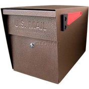 Mail Boss Locking Security Curbside Mailbox Bronze