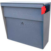 Metro Wall Mount Mail Boss Locking Mailbox Granite