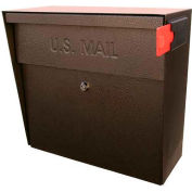 Metro Wall Mount Mail Boss Locking Mailbox Bronze