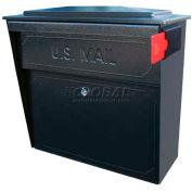 Townhouse Wall Mount Mail Boss Locking Mailbox Black