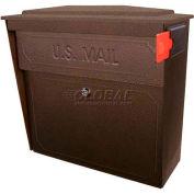 Townhouse Wall Mount Mail Boss Locking Mailbox Bronze