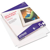 "Epson® Ultra-Premium Glossy Photo Paper S042175, 8-1/2"" x 11"", Bright White, 50/Pack"