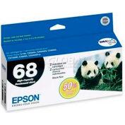 Epson® DURABrite Ultra High-Capacity Ink Cartridge T068120-D2, Black, 2/Pack