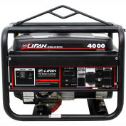 Lifan Power USA LF4000, 3500 Watts, Portable Generator, Gasoline, Electric/Recoil Start, 120/240V