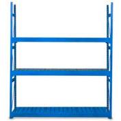 "Equipto Vg Bulk Rack 96""W X 15""D X 60""H Add-On W/Corrugated Steel Decking, Textured Regal Blue"
