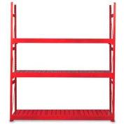 "Equipto Vg Bulk Rack 60""W X 30""D X 72""H Add-On W/Corrugated Steel Decking, Textured Cherry Red"
