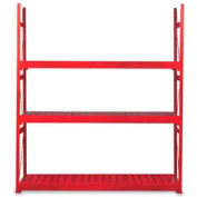 "Equipto Vg Bulk Rack 60""W X 36""D X 84""H Starter W/Drop In Wire Decking, Textured Cherry Red"