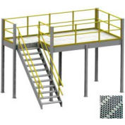 Equipto 8' x 12' x 12' Mezzanine With Perforated Steel Grating Deck