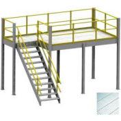 Equipto 8' x 12' x 12' Mezzanine With Solid Steel Grating Deck