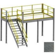 Equipto 8' x 12' x 8' Mezzanine With Bar Grating Deck
