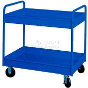 """Equipto® 145 4"""" Deep 2 Shelf Stock Cart 500 Lb 30x16x36 - Textured Regal Blue"""