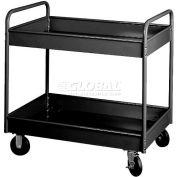 """Equipto® 150D 4"""" Deep 2 Shelf Stock Cart 800 Lb. 36x24x36 - Textured Black"""