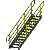 "Equipto 1548IBC7 IBC Stairway, 48"" Width, 7 Stairs"