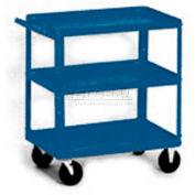 Equipto® 156 Stock Cart 3 Shelves 500 Lb. 30x16x33 - Textured Regal Blue