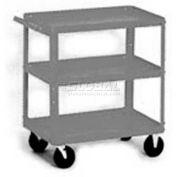 Equipto® 156 Stock Cart 3 Shelves 500 Lb. 30x16x33 - Smooth Office Gray