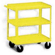 Equipto® 156 Stock Cart 3 Shelves 500 Lb. 30x16x33 - Textured Safety Yellow