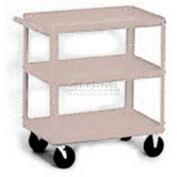 Equipto® 161 Stock Cart 3 Shelves 500 Lb. 36x24x33 - Textured Putty