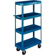 Equipto® 163 Stock Cart 4 Shelves 800 Lb. 30x16x60 - Textured Regal Blue